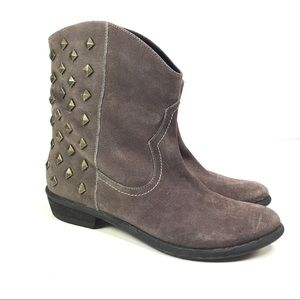Carlo Rossetti Brown Pull on Studded Boot